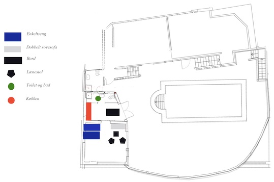 Villagranada Poolhouse layout